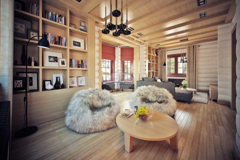 Идеи оформления деревянного дома